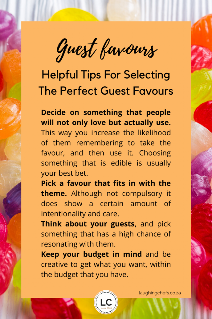 Laughing Chefs choose the perfect guest favour