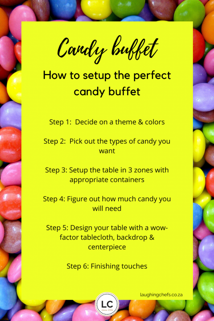 Laughing Chefs how to setup a candy buffet