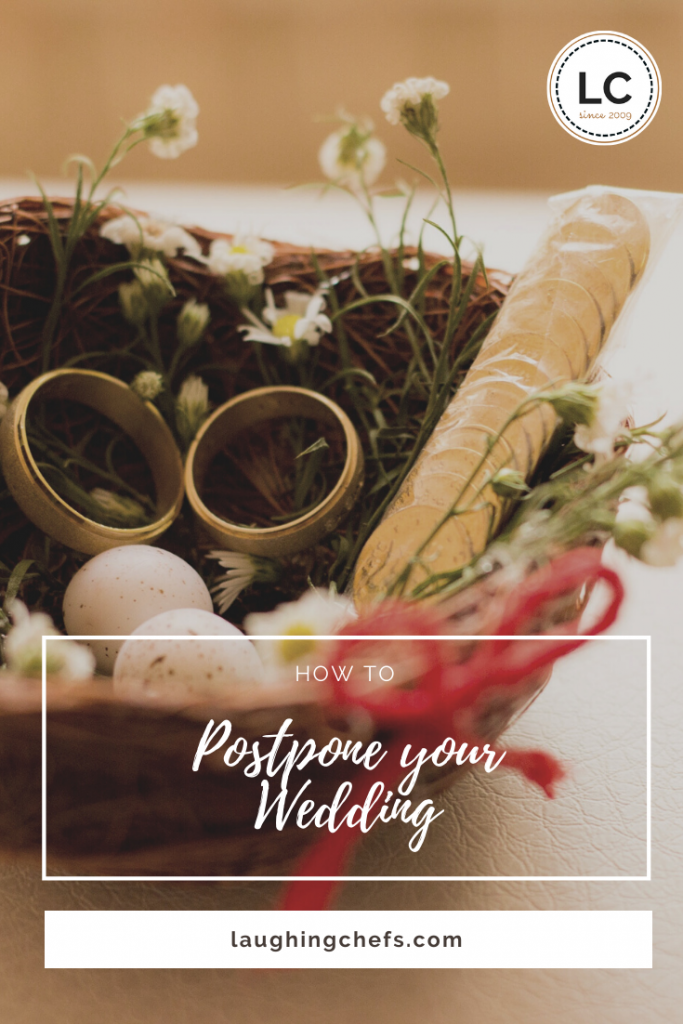 Laughing Chefs how to postpone your wedding